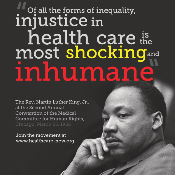 Image result for martin luther king jr on healthcare